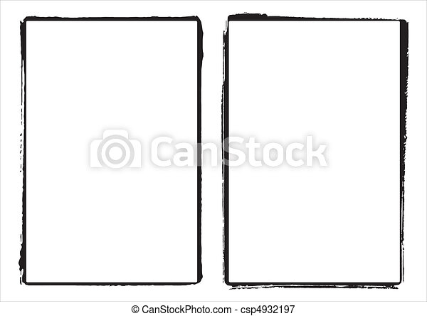 Two vector grunge film frame edges - csp4932197