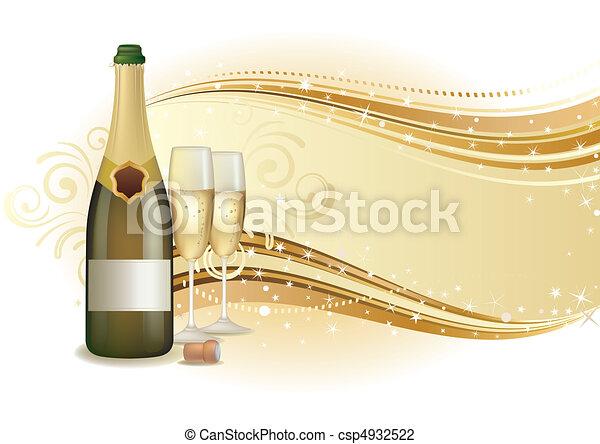 champagne celebrate background - csp4932522
