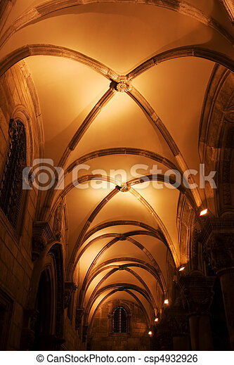 Arch Ceiling Architecture - csp4932926