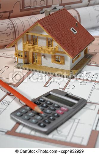architecture model house building - csp4932929