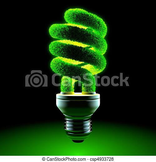 Green energy-saving lamp - csp4933728