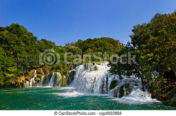 Waterfall KRKA in Croatia - csp4933884