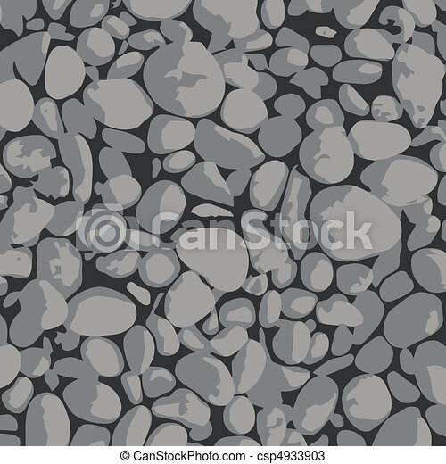Gravel -  background gray and black - csp4933903