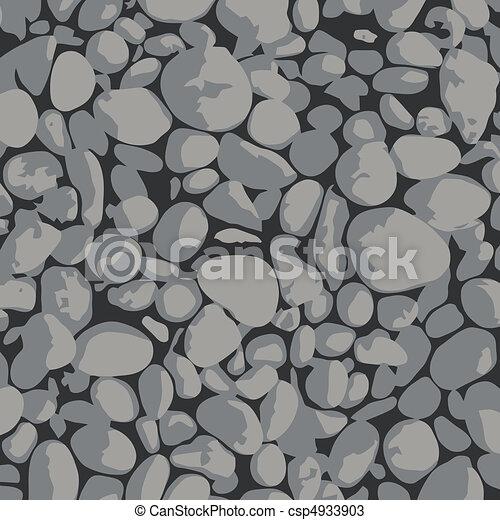 Gravel -  background gray and black - csp4933903