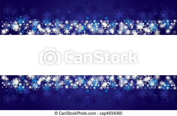 Background with blue snowflakes, vector illustration - csp4934060