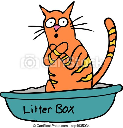 Kitty Litterbox - csp4935034