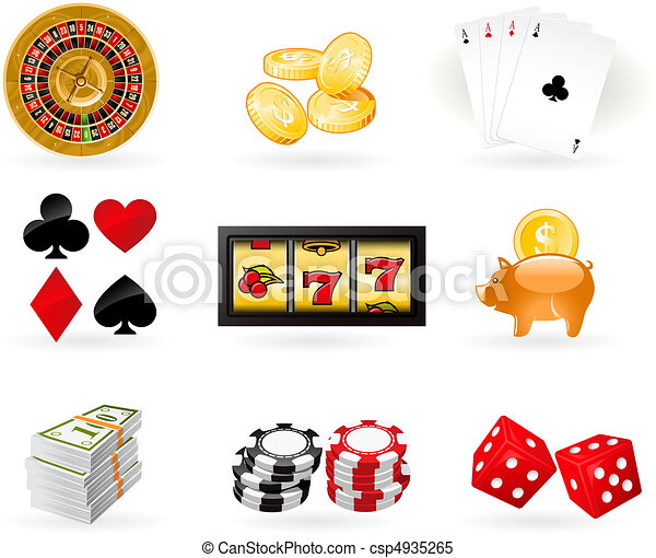 Gambling Icon set - csp4935265