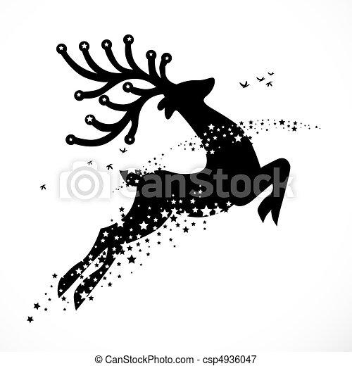 Christmas Reindeer Decoration - csp4936047