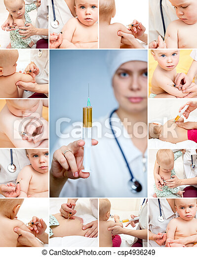 Little baby get an injection - csp4936249
