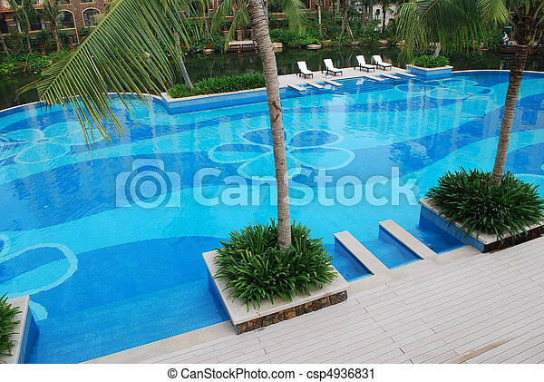Appealing swimming pool - csp4936831