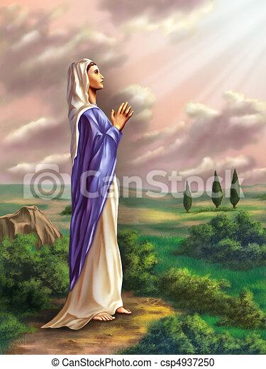 Virgin Mary - csp4937250