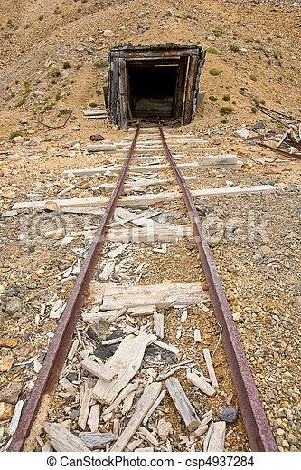 Mine rail and shaft - csp4937284