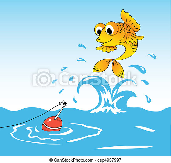 Fish and float. - csp4937997