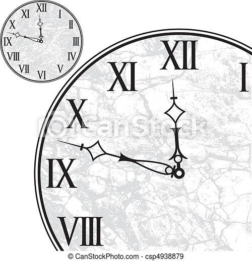 Clock Face with Roman Numerals - csp4938879