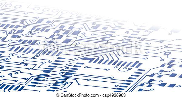 Circuit Board Background Fade - csp4938963