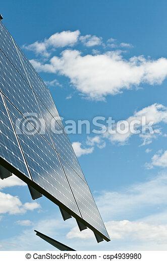 Renewable Energy - Photovoltaic Solar Panel Array - csp4939980
