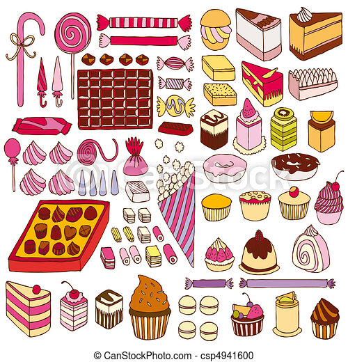 Set of vector sweets - csp4941600