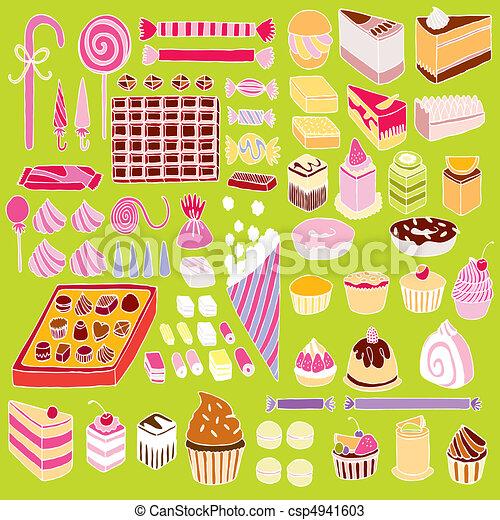 Set of vector sweets - csp4941603