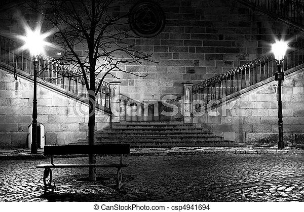 Charles bridge from the side of Mala Strana, Prague - csp4941694
