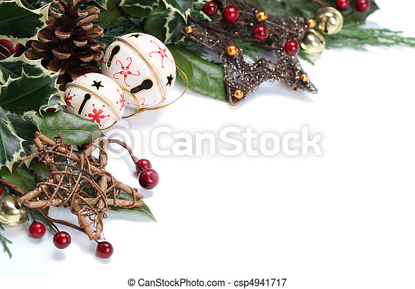 Jingle bell and star border - csp4941717