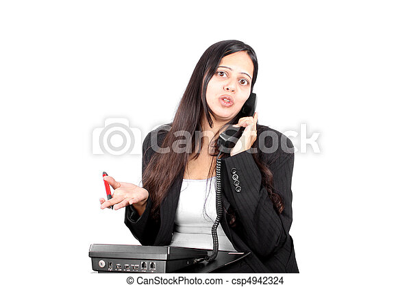 Businesswoman on Phone - csp4942324