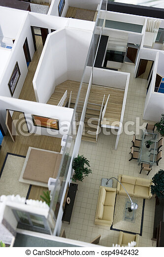Photo de int rieur maison mod le image de une architecte csp494243 - Exemple interieur maison ...