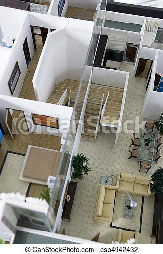 Photo de int rieur maison mod le image de une architecte csp494243 - Modele interieur maison ...