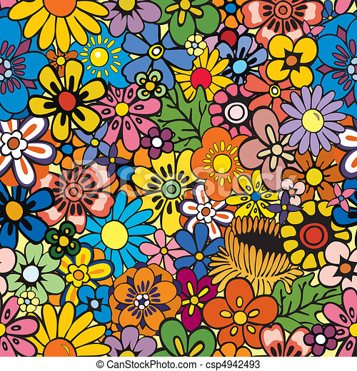 Repeating Floral Background - csp4942493