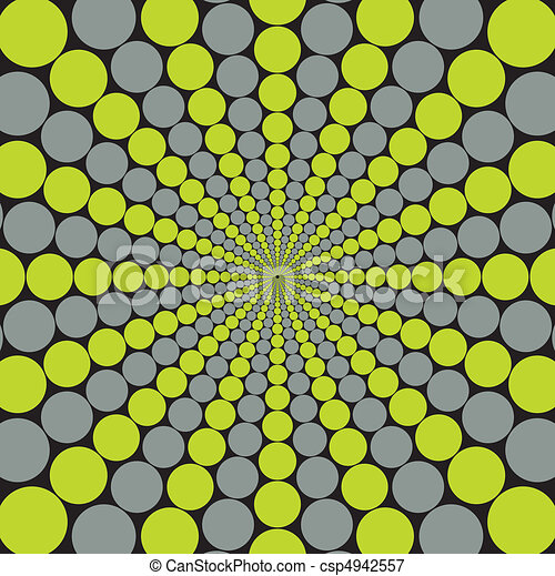Grey and Green Circular Burst - csp4942557