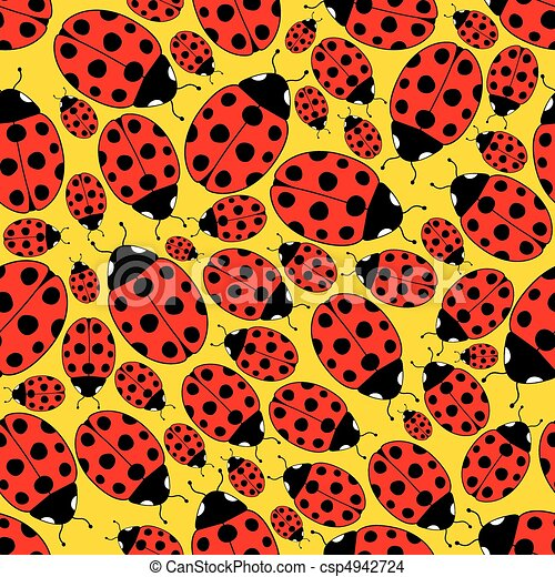 Seamless Repeating Ladybug Pattern - csp4942724