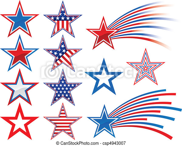 Various Stars to add to your designs - csp4943007
