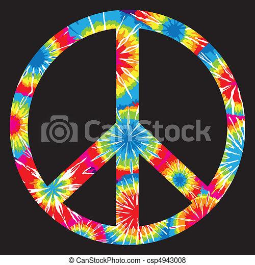 Tie Dyed Peace Symbol - csp4943008