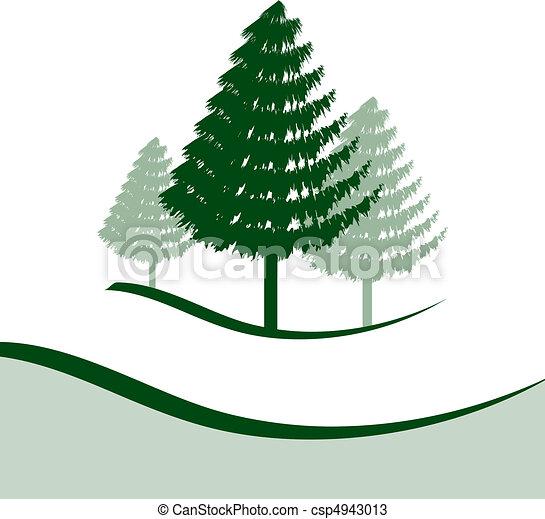 Vectores de tres, árboles, pino - tres, pino, árboles, cada ... | {Pino logo 94}