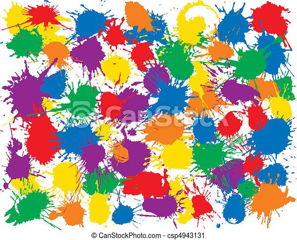 Rainbow Splatter - csp4943131