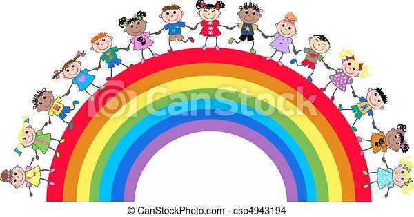 ethnic mixed kids - csp4943194