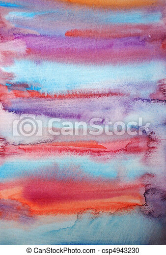 Watercolor hand painted art background for scrapbooking design - csp4943230