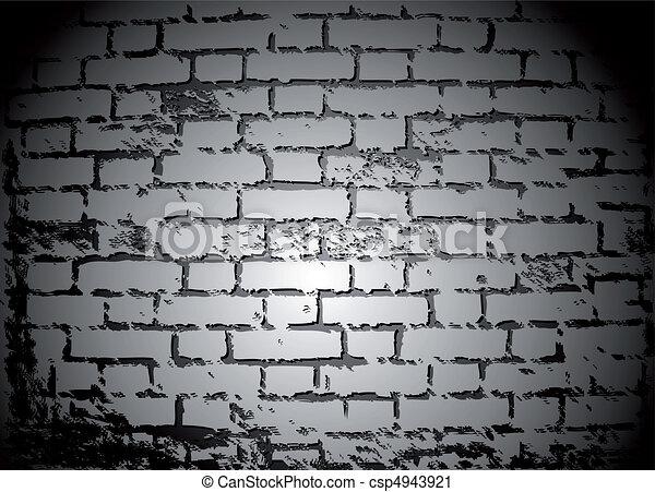 clip art vecteur de noir et blanc brique mur vecteur vieux croulant csp4943921. Black Bedroom Furniture Sets. Home Design Ideas