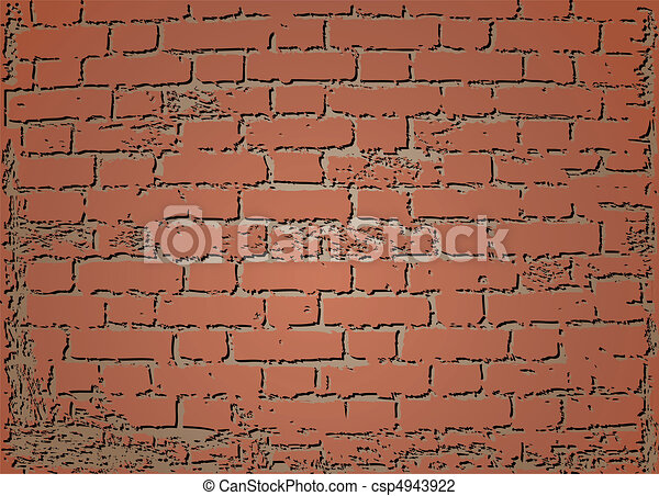 Brick Wall Background. Vector - csp4943922
