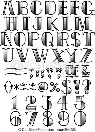 Tattoo Lettering Alphabet