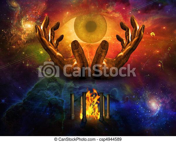 Mystery of God - csp4944589