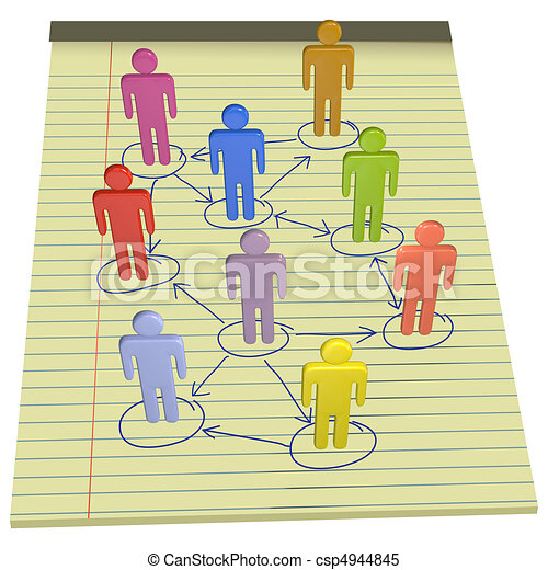 People symbols connect business network legal paper - csp4944845