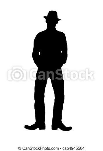 Silueta de hombre con sombrero