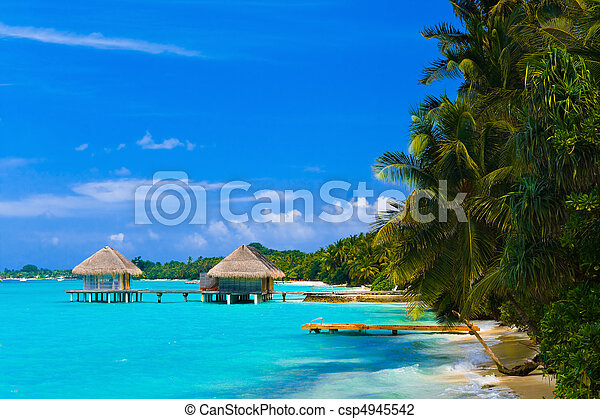Spa salon on beach - csp4945542