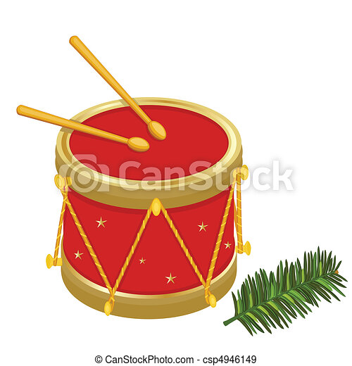 Festive Christmas drums - csp4946149
