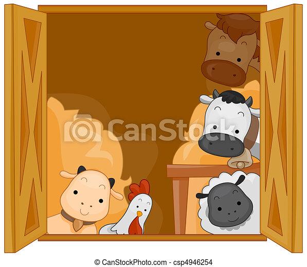 Barn Animals - csp4946254