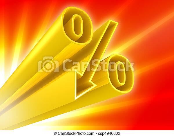 Golden percent discount  - csp4946802
