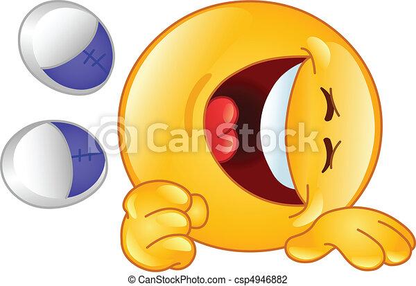 Laughing emoticon - csp4946882