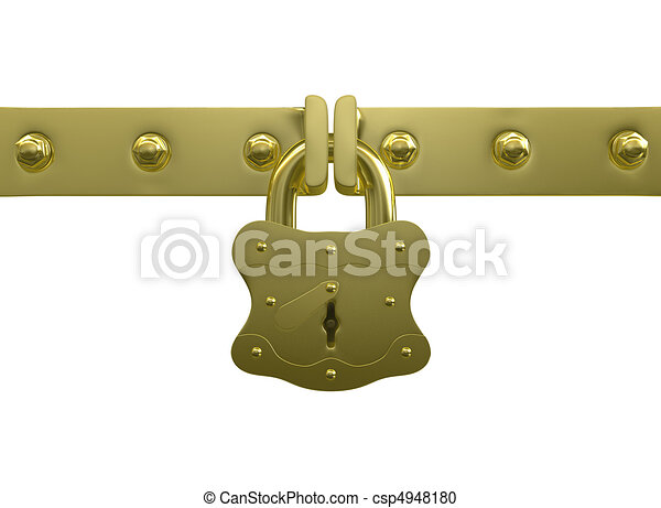 Golden lock and bolts - csp4948180
