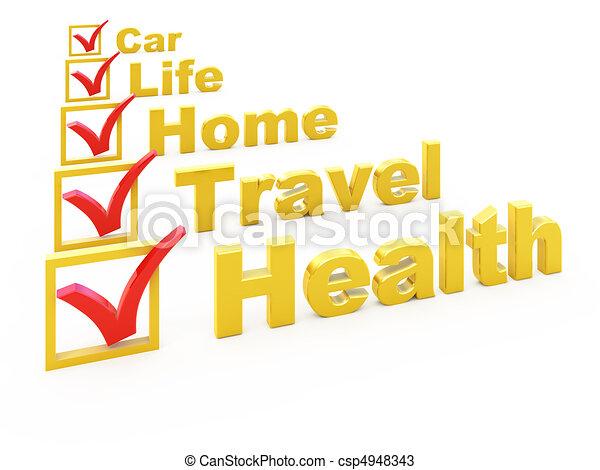 Insurance checklist  - csp4948343