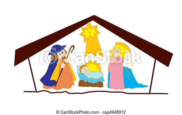 Christ's nativity. - csp4948912